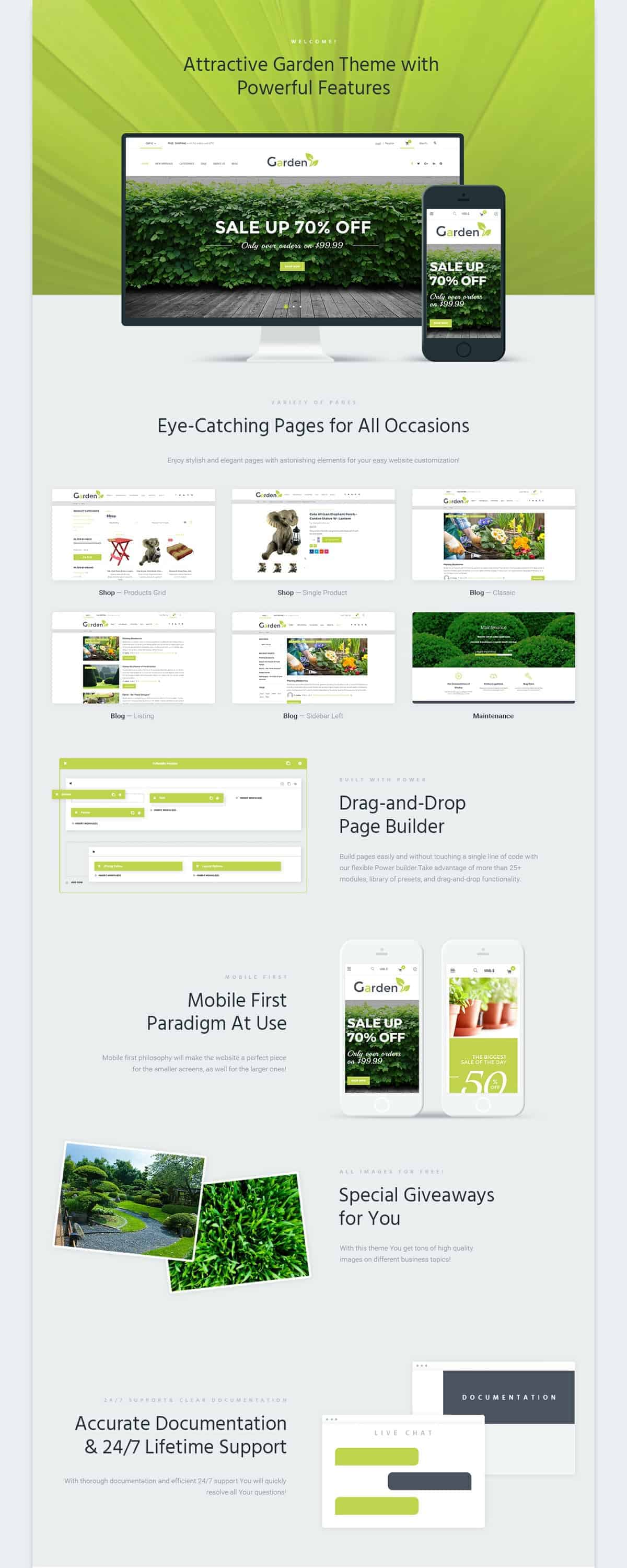 Garden Design Web Template