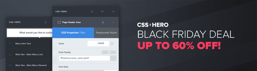 CSS Hero - up to 60% off