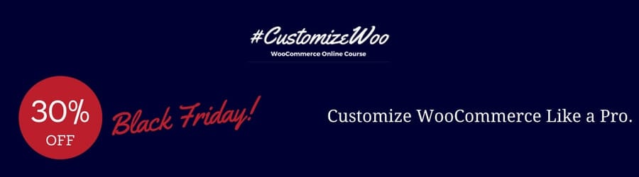 CustomizeWoo - 30% off