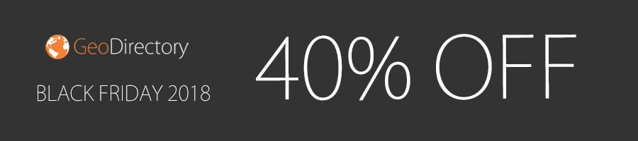 GeoDirectory - 40% Off Black Friday
