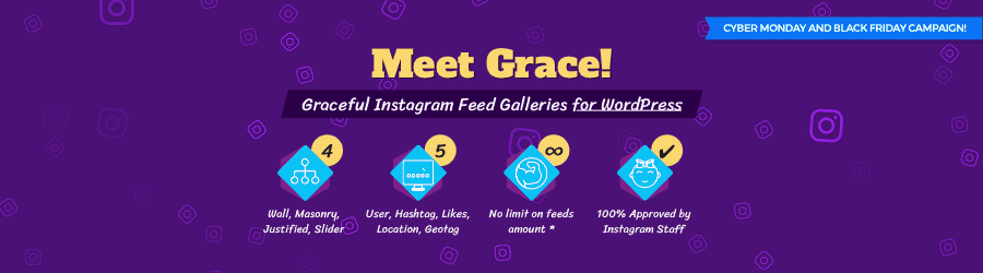 Grace Instagram Feed Gallery - 50% off Black Friday