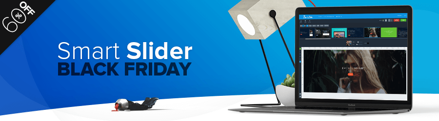 Smart Slider 3 - 60% off Black Friday
