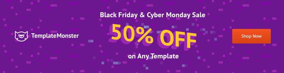 TemplateMonster - 50% Off Black Friday