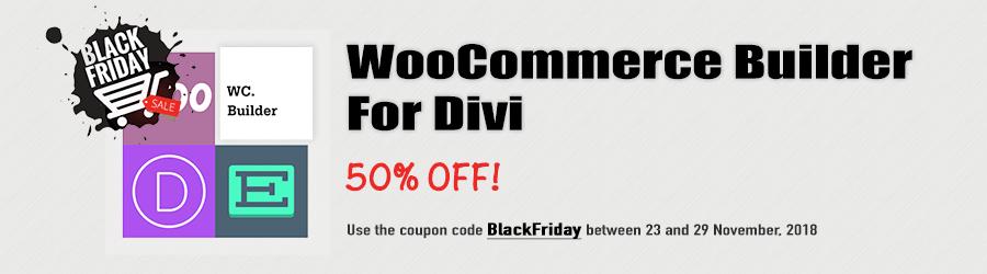 WooCommerce Builder For Divi - 50% off