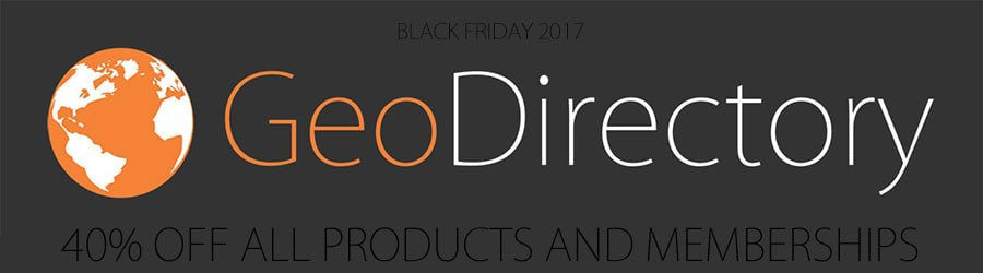 GeoDirectory - 40% Off Black Friday