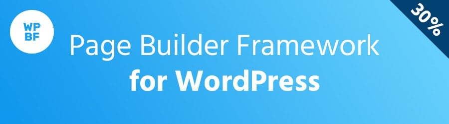 Page Builder Framework - 30% off