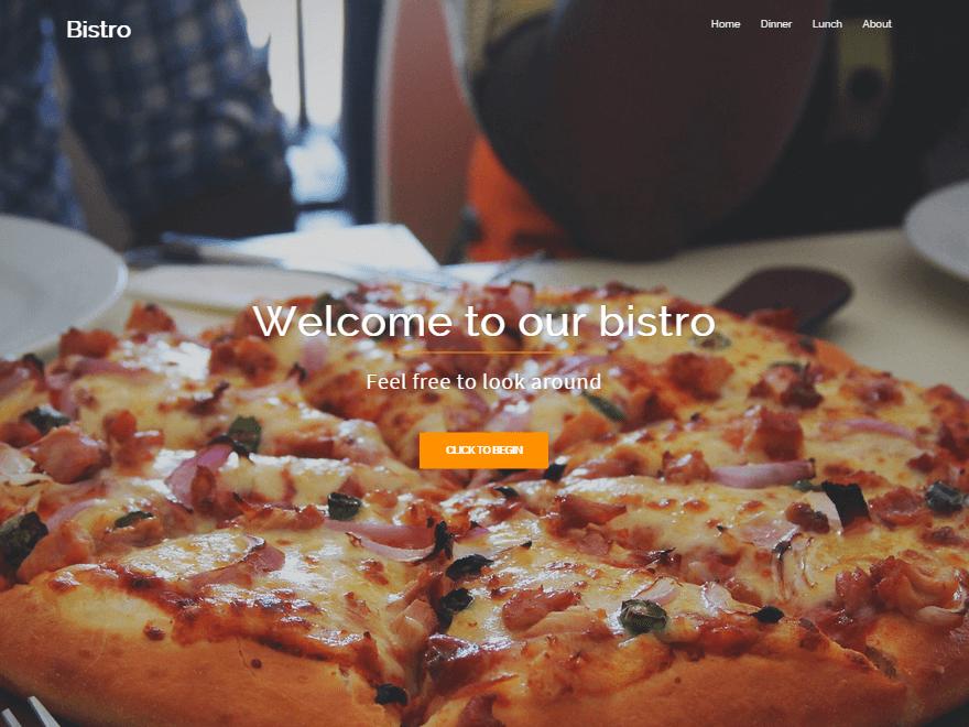 Bistro - free WordPress restaurant theme