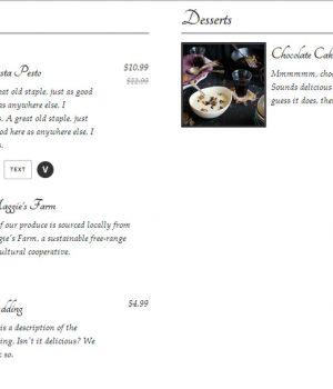 Food and Drink menu - WordPress plugin