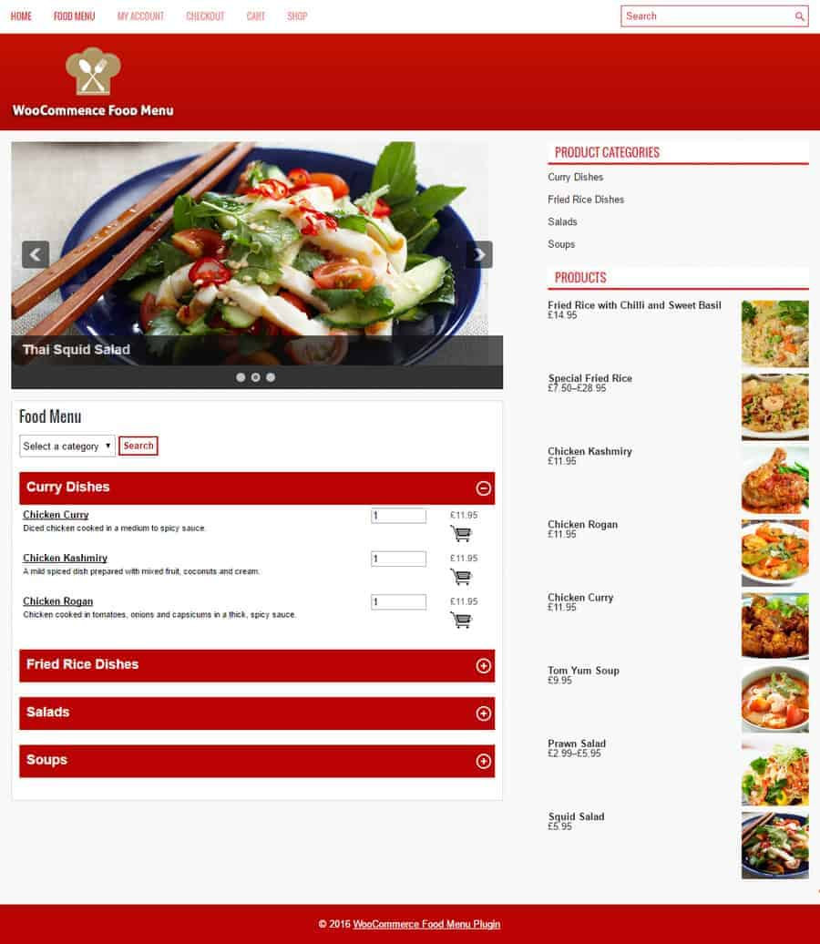 Woocommerce Restaurant Menu Plugin