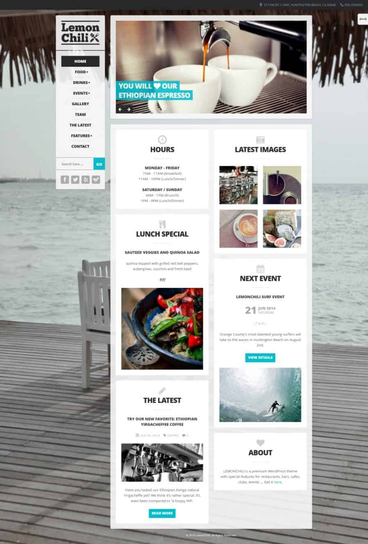 Lemon Chili WordPress theme