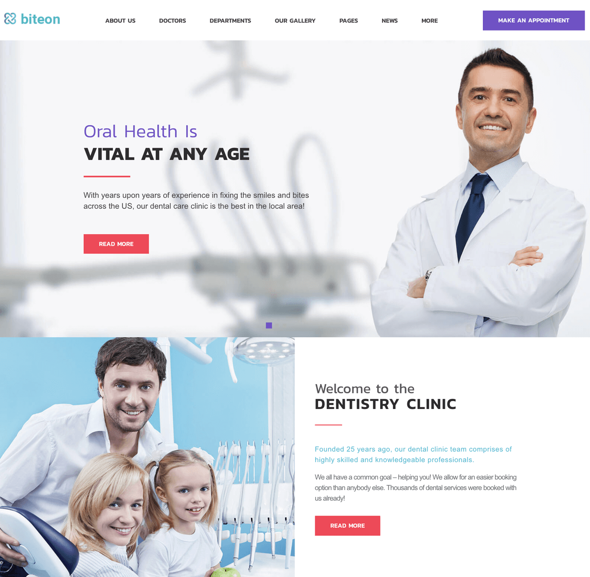 Biteon orthodontist WordPress theme