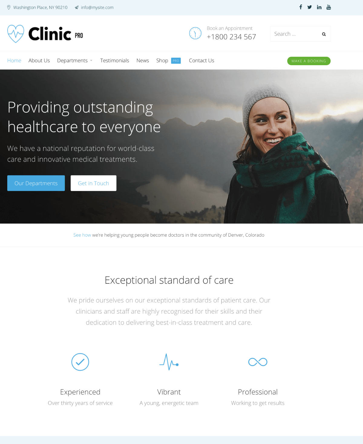 Clinic Pro WordPress theme