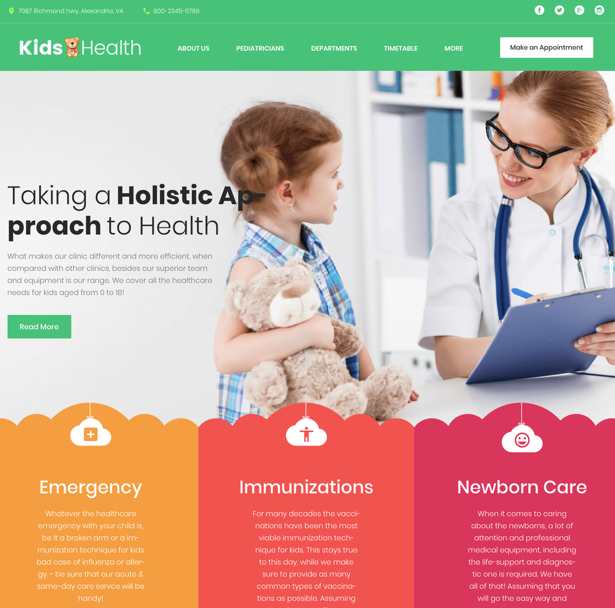 KidsHealth kids clinic WordPress theme