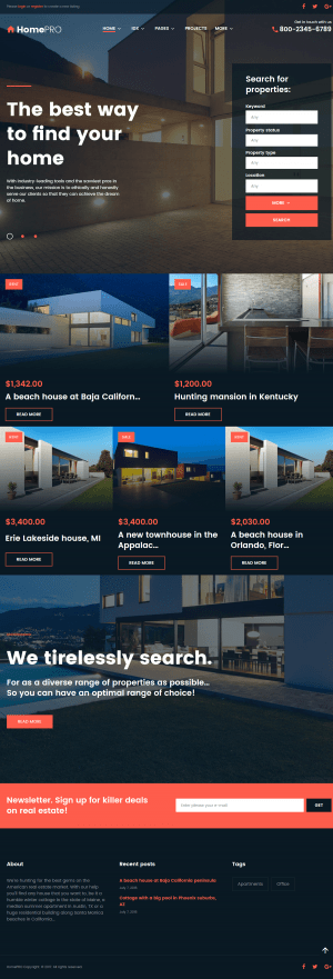 HomePro Real Estate Portal