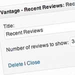 widget recent reviews