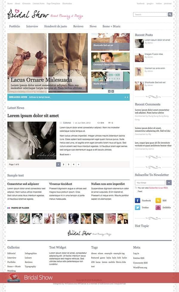 Best Free Wordpress Wedding Themes