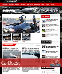 CarBoost WordPress car theme