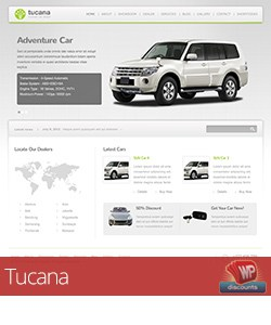 Tucana automotive theme for WordPress