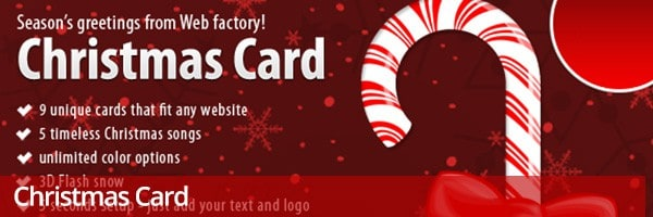 Christmas Card WordPress plugin