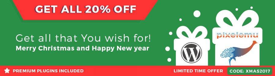 PixelEmu - 20% Off Christmas 2017 / New Year 2018